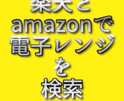 文字『楽天とamazonで電子レンジを検索』