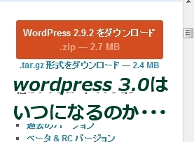 wordpress3.0はいつでるのか??