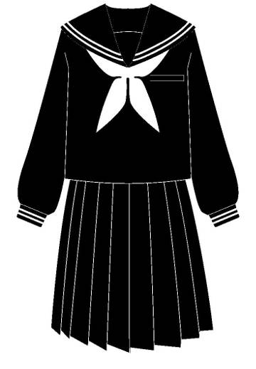 セーラー服の絵