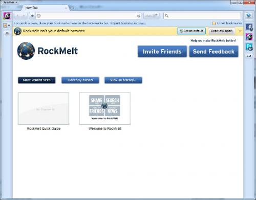 FaceBookブラウザ RockMeltインストール