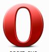 共有ソフトも標準装備している ブラウザ Opera
