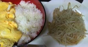 2011年1月3日の晩御飯。モヤシ炒めです。