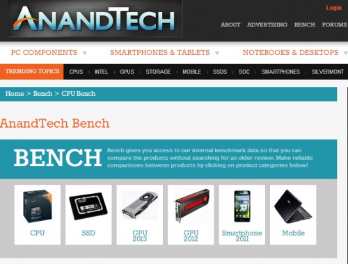 AnandTech   Bench - CPU