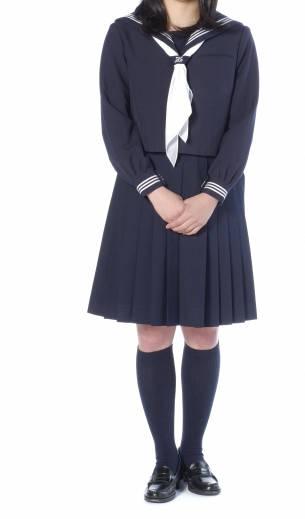 冬服セーラー服(学生服)全身図
