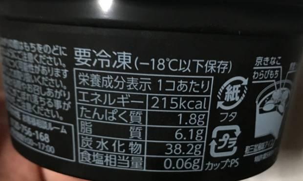 栄養成分表示 井村屋やわもちアイス(ラクトアイス)