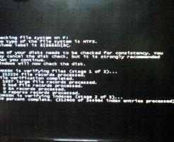 Windows7 PC起動時デスクチェックエラー?