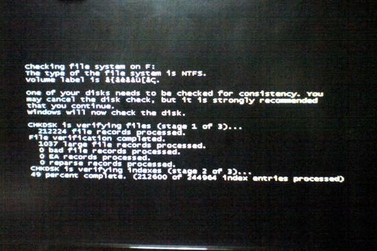 Windows7でPC電源投入時エラー?のような画面が・・・