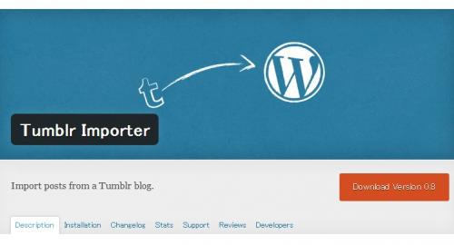 WordPress › Tumblr Importer « WordPress Plugins