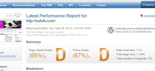 002-Latest Performance Report for  http   nufufu.com    GTmetrix