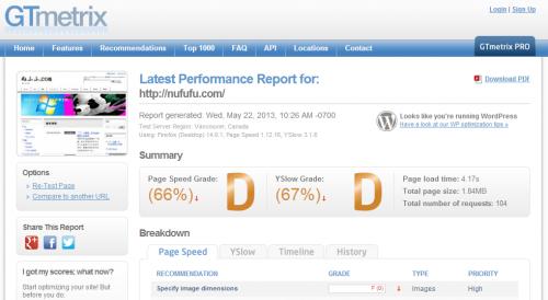 nufufu.com表示速度