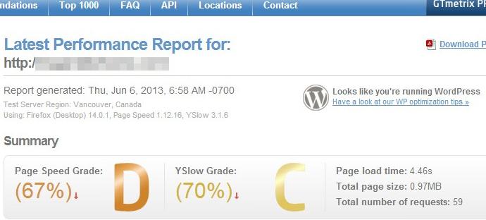 001-Latest Performance Report for  GTmetrix_