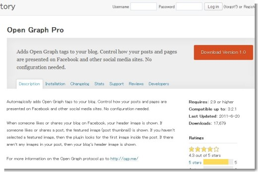 Open Graph Pro « WordPress Plugins