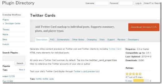 Twitter Cards « WordPress Plugins