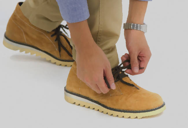 靴紐の革靴