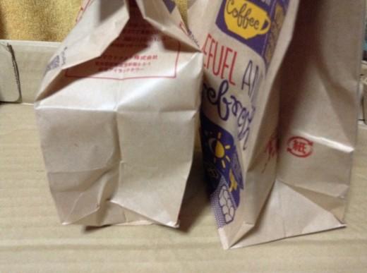 マクドナルドのアイスコーヒーの紙袋