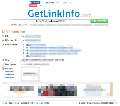 tinyurlcom GetLinkInfo-
