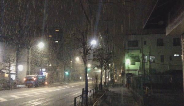 東京都内の2016年01月17の雪