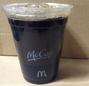 マクドナルドのアイスコーヒーSサイズ