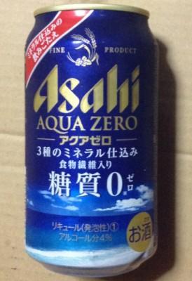 アサヒアクアゼロ糖質0