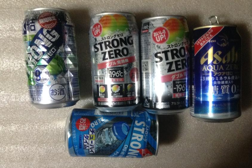 糖質制限ダイエット77日目に飲んだアルコール類
