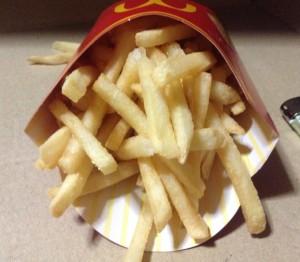 マクドナルドのフライドポテト