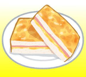 パン料理(クロックムッシュ)