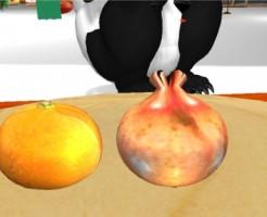SecondLife fruit Sculpted prim Mandarin orange and Pomegranate