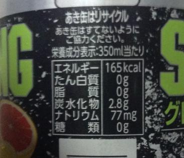 セブン&アイ チューハイストロング グレープフルーツ糖類ゼロ 350mlあたりの栄養素