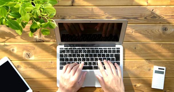 パソコンで入力する人