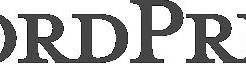 ワードプレスと書かれた文字のロゴ