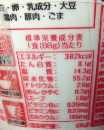ILOVE ニラうま辛豚骨ラーメンの栄養価