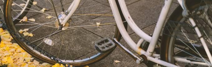 自転車の下半分