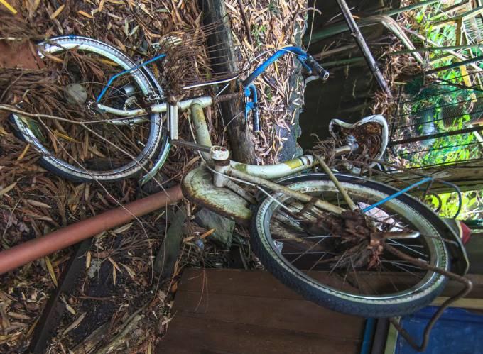 さび付いた自転車