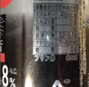 ストロングゼロダブル完熟梅 STRONG ZERO -196℃の栄養成分表示