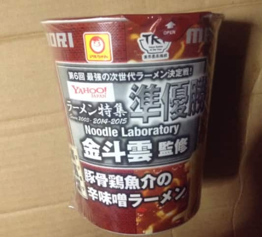 金斗雲監修 豚骨鶏魚介系の辛みそラーメン(マルちゃん)