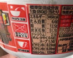栄養成分表示(1食80gあたり)