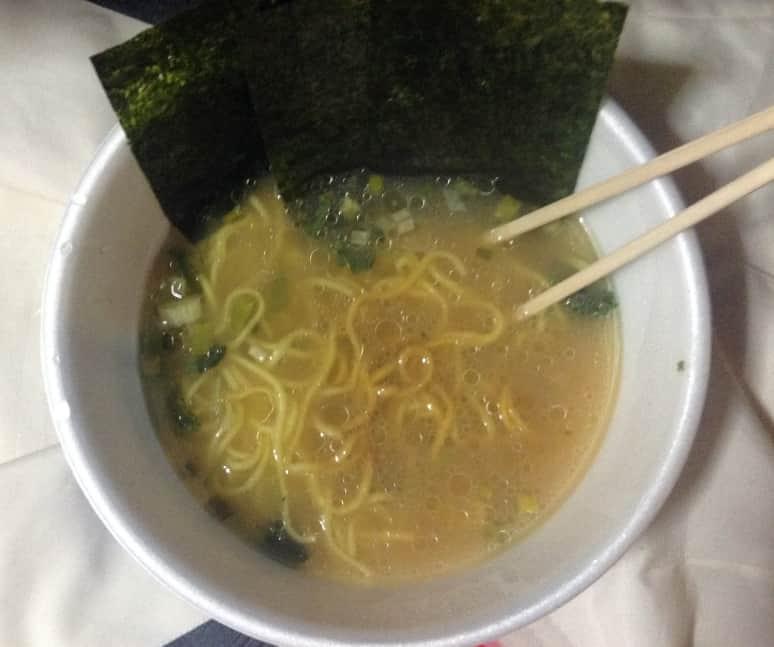 日清 麺ニッポン 横浜家系ラーメン出来上がり図