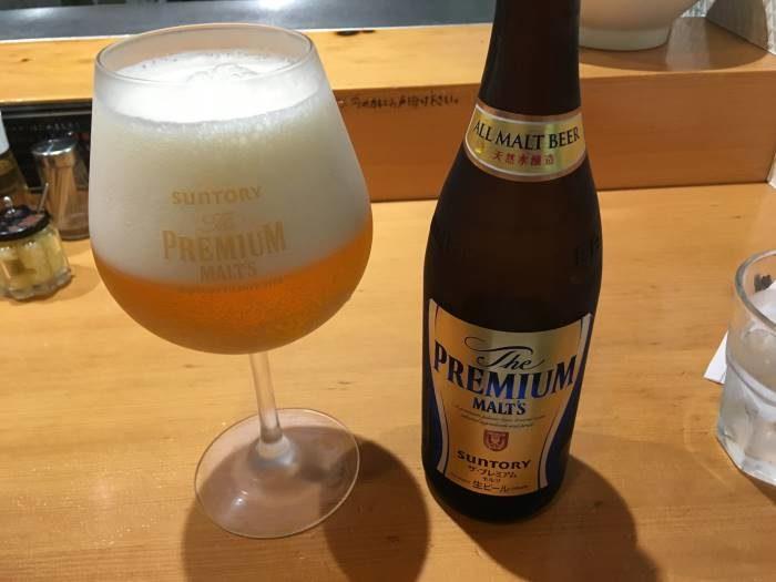竹末東京プレミアムのビール500円