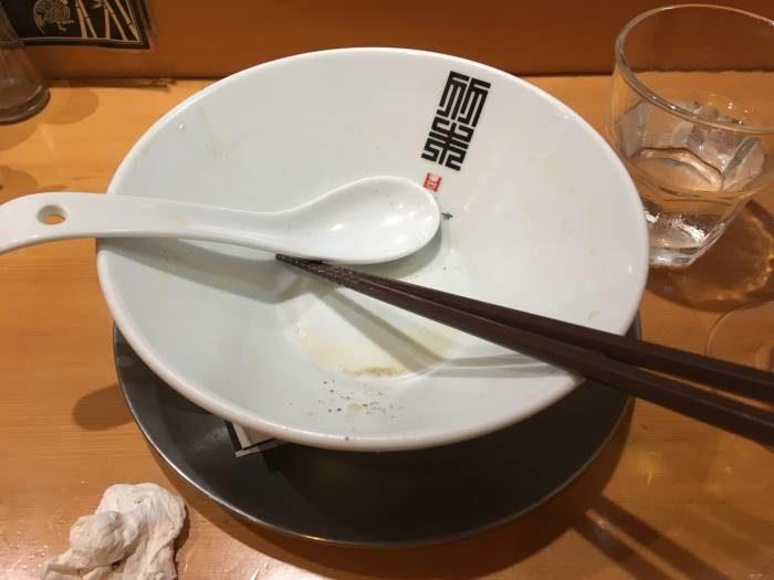 完食した丼 竹末東京プレミアム