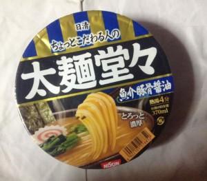 日清太麺堂々 魚介豚骨醤油パッケージ