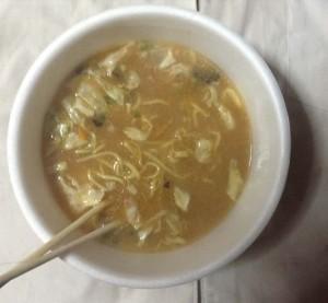 マルちゃん正麺 カップ 香味まろ味噌 作った完成図