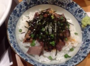 肉玉丼(玉子抜きで注文)