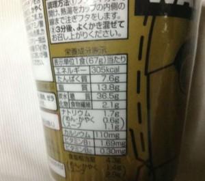 イオントップバリュ スターウォーズ ヌードル 金ゴマ担担麺の栄養成分表示