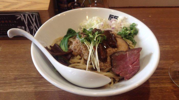 竹末東京プレミアムのサンマとイカの混ぜそば900円