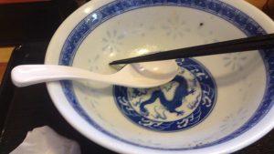 食べ終えた食器(丼ぶり)