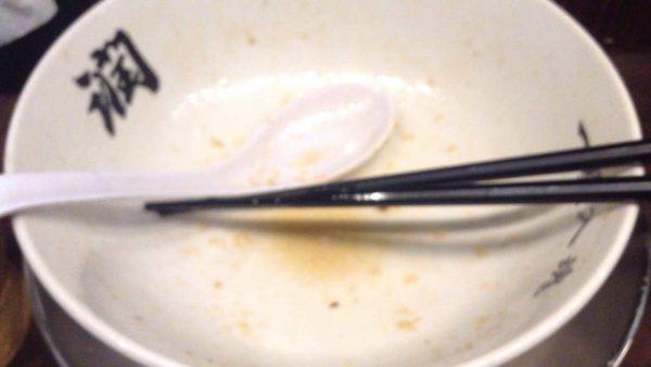 らーめん潤 亀戸店にて特製中華そば1000円食べ終えた図
