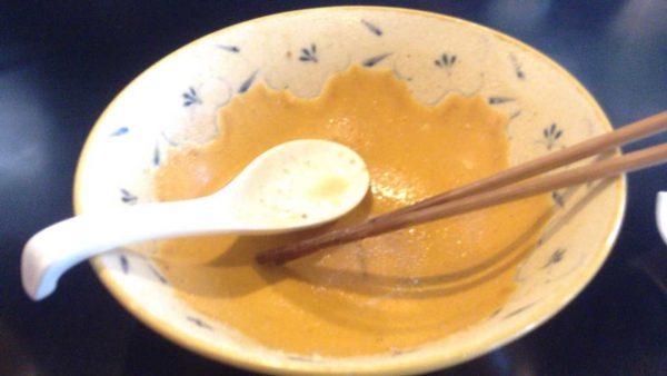 みそ味専門 マタドールで食べた 濃厚味噌らぁ麺 850円を完食した図