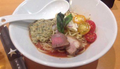 季節限定麺 冷製イタリア〜ンとまとそば 900円