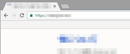SSL導入後の表示はGoogleChromeではこういう表示になる。
