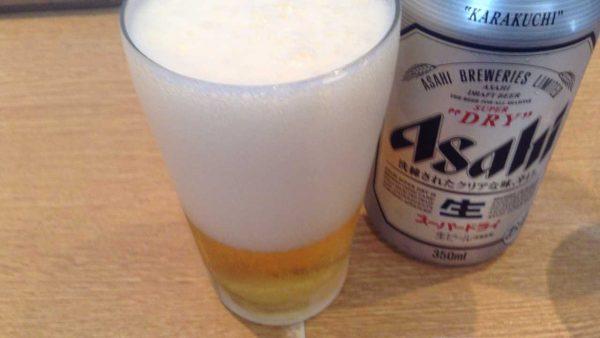 麺屋一燈 で缶ビール350円